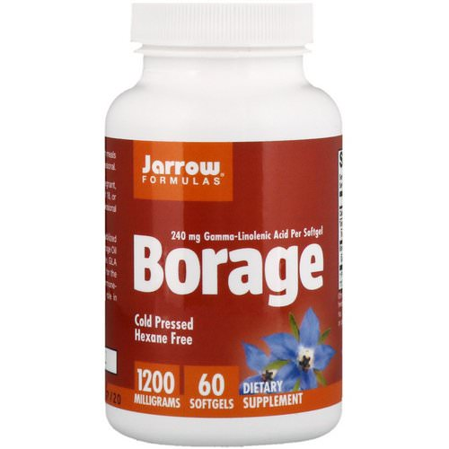 Jarrow Formulas, Borage, GLA-240, 1,200 mg, 60 Softgels Review