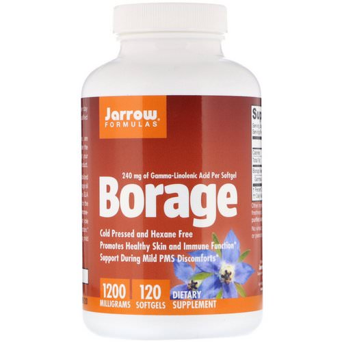 Jarrow Formulas, Borage, GLA-240, 1200 mg, 120 Softgels Review