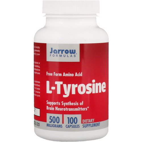 Jarrow Formulas, L-Tyrosine, 500 mg, 100 Capsules Review