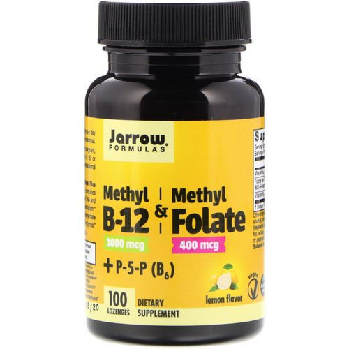 Jarrow Formulas, Methyl B-12 & Methyl Folate, Lemon Flavor, 1000 mcg / 400 mcg, 100 Lozenges Review