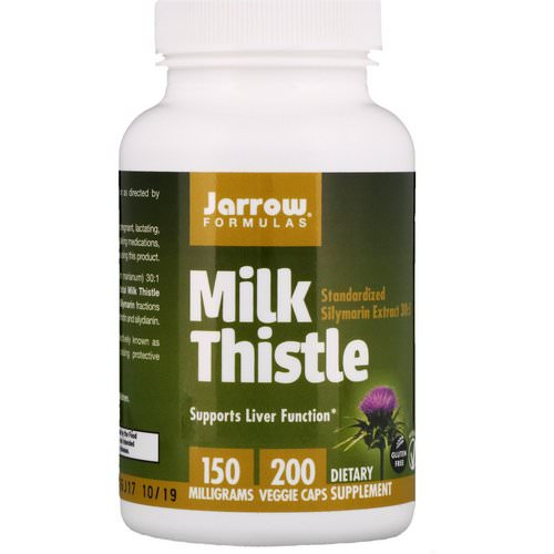Jarrow Formulas, Milk Thistle, 150 mg, 200 Veggie Caps Review