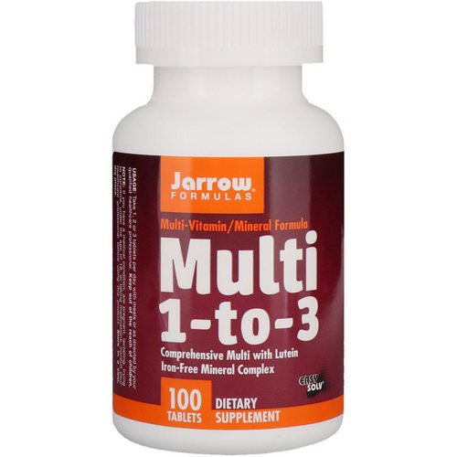 Jarrow Formulas, Multi 1-to-3, with Lutein, Iron-Free, 100 Tablets Review