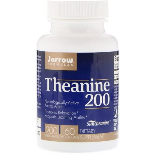 Jarrow Formulas, Theanine 200, 200 mg, 60 Veggie Caps Review