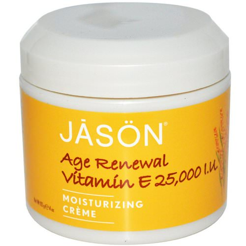 Jason Natural, Age Renewal Vitamin E, Moisturizing Creme, 25,000 IU, 4 oz (113 g) Review
