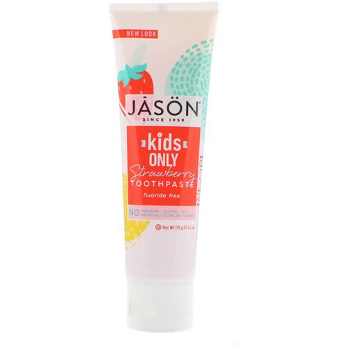 Jason Natural, Kids Only! Toothpaste, Strawberry, 4.2 oz (119 g) Review