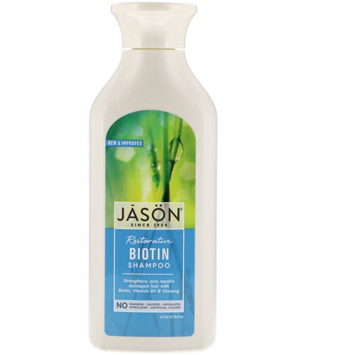 Jason Natural, Restorative Biotin Shampoo, 16 fl oz (473 ml) Review