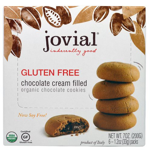 Jovial, Organic Chocolate Cookies, Chocolate Cream Filled, Gluten Free, 6 - 1.2 oz (33 g) Packs Review