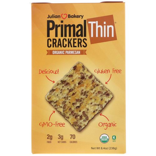 Julian Bakery, Primal Thin Crackers, Organic Parmesan, 8.4 oz (238 g) Review