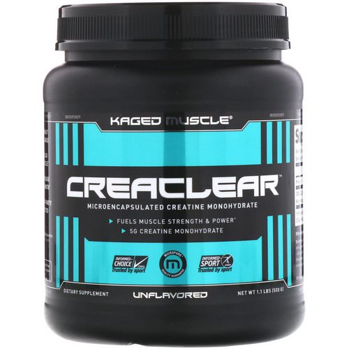 Kaged Muscle, Creaclear, Unflavored, 1.1 lb (500 g) Review