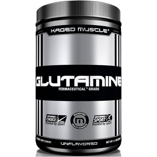 Kaged Muscle, Glutamine, Unflavored, 1.1 lbs (500 g) Review