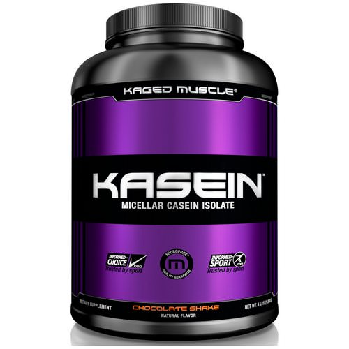 Kaged Muscle, Kasein, Micellar Casein Isolate, Chocolate Shake, 4 lbs (1.8 kg) Review
