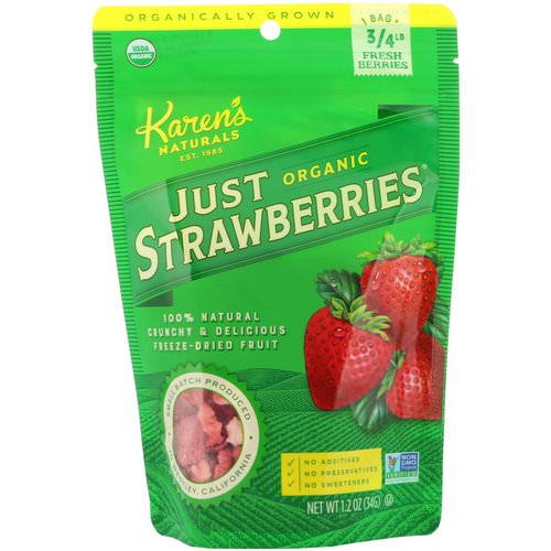 Karen's Naturals, Organic Just Strawberries, 1.2 oz (34 g) Review