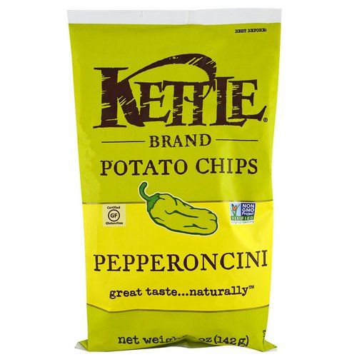 Kettle Foods, Potato Chips, Pepperoncini, 5 oz (142 g) Review