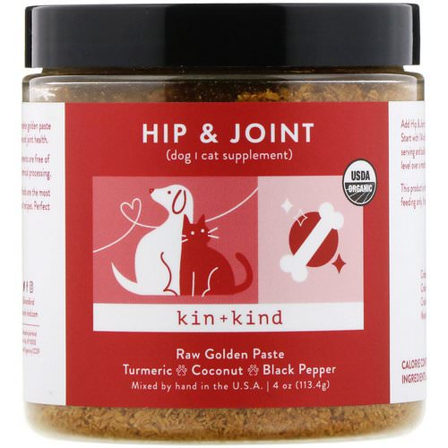 Kin+Kind, Hip & Joint, Raw Golden Paste, 4 oz (113.4 g) Review