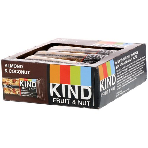 KIND Bars, Fruit & Nut Bar, Almond & Coconut, 12 Bars, 1.4 oz (40 g) Each Review