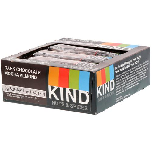 KIND Bars, Nuts & Spices, Dark Chocolate Mocha Almond, 12 Bars, 1.4 oz (40 g) Each Review