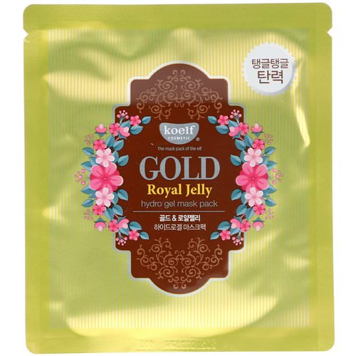 Koelf, Gold Royal Jelly Hydro Gel Mask Pack, 5 Masks, 30 g Each Review