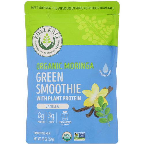 Kuli Kuli, Organic Moringa Green Smoothie With Plant Protein, Vanilla, 7.9 oz (224 g) Review