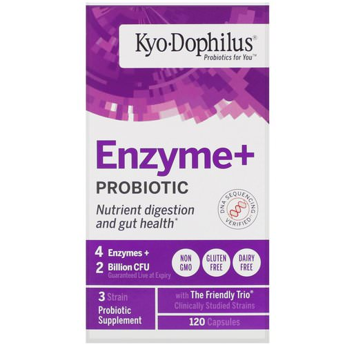 Kyolic, Kyo·Dophilus, Enzyme+ Probiotic, 120 Capsules Review
