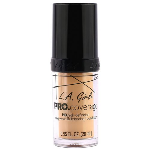 L.A. Girl, Pro Coverage HD Foundation, Natural, 0.95 fl oz (28 ml) Review