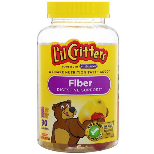 L'il Critters, Fiber Digestive Support, Natural Fruit Flavors, 90 Gummies Review