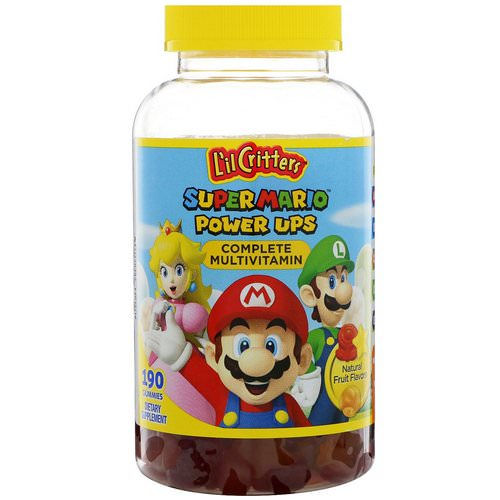 L'il Critters, Super Mario Power Ups Complete Multivitamin, Natural Fruit Flavors, 190 Gummies Review