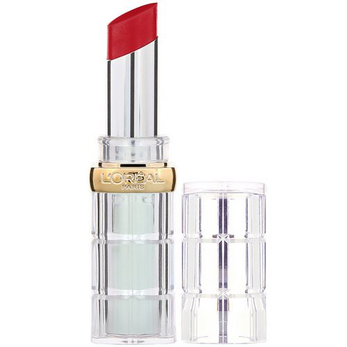 L'Oreal, Color Rich Shine Lipstick, 924 Enamel Red, 0.1 oz (3 g) Review
