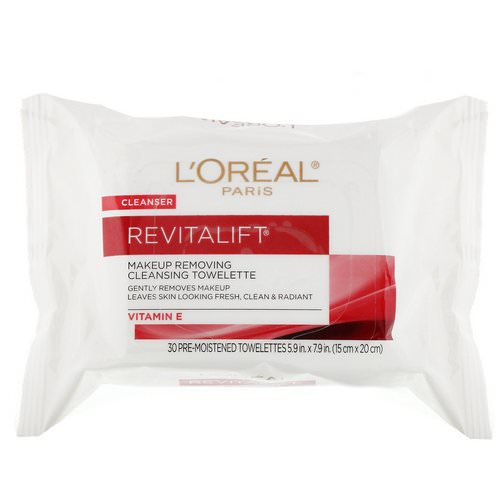 L'Oreal, Revitalift Makeup Removing Cleansing Towelettes, 30 Pre-Moistened Towelettes Review