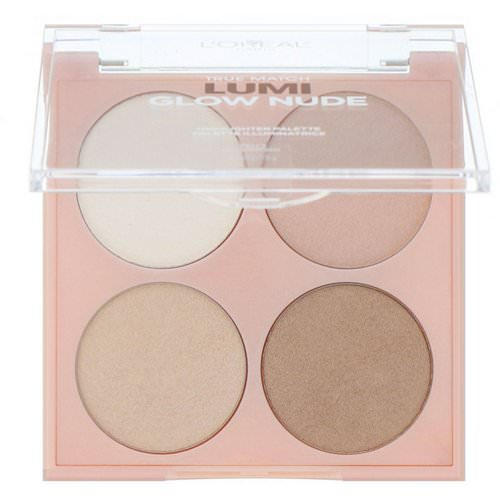 L'Oreal, True Match Lumi Glow Nude Highlighter Palette, 760 Moonkissed, 0.26 oz (7.3 g) Review