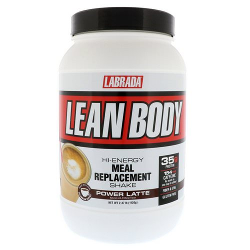 Labrada Nutrition, Lean Body, Hi-Energy Meal Replacement Shake, Power Latte, 2.47 lbs (1120 g) Review