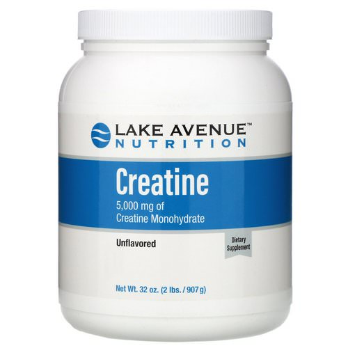 Lake Avenue Nutrition, Creatine Powder, Unflavored, 5,000 mg, 2 lb (907 g) Review