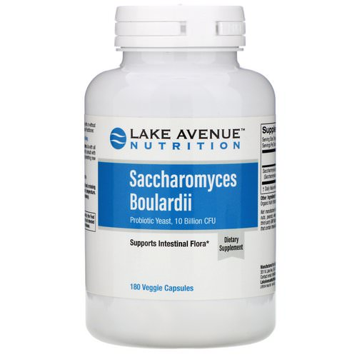 Lake Avenue Nutrition, Saccharomyces Boulardii, Probiotic Yeast, 10 Billion CFU, 180 Veggie Capsules Review