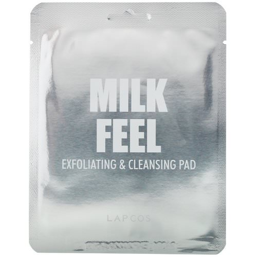 Lapcos, Milk Feel, Exfoliating & Cleansing Pad, 5 Pads, 0.24 oz (7 g) Each Review