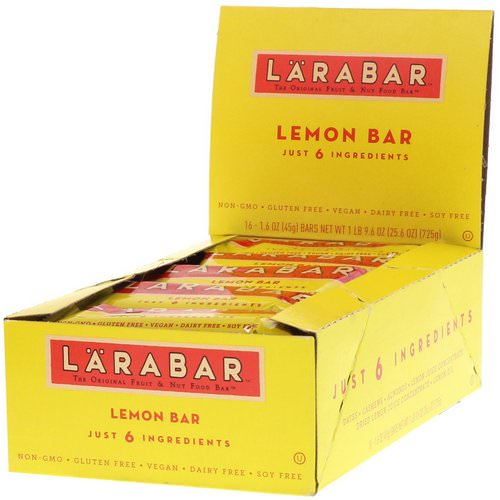 Larabar, Lemon Bar, 16 Bars, 1.6 oz (45 g) Each Review
