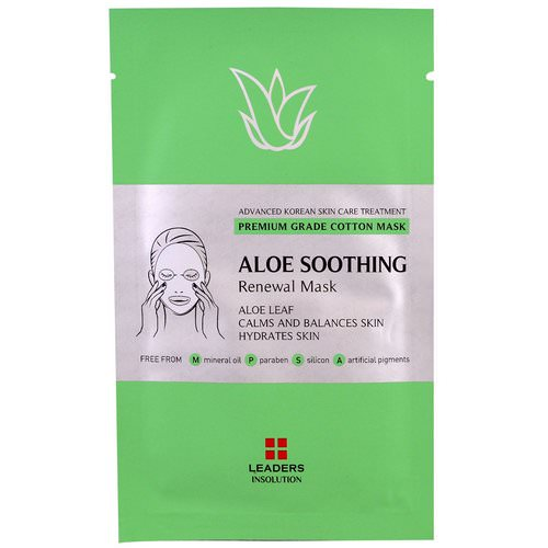 Leaders, Aloe Soothing Renewal Mask, 1 Mask Review