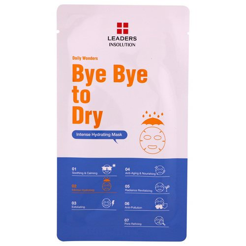 Leaders, Daily Wonders, Bye Bye to Dry, Intense Hydrating Mask, 1 Mask, .84 fl oz (25 ml) Review