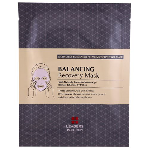 Leaders, Coconut Gel Balancing Recovery Mask, 1 Mask, 30 ml Review