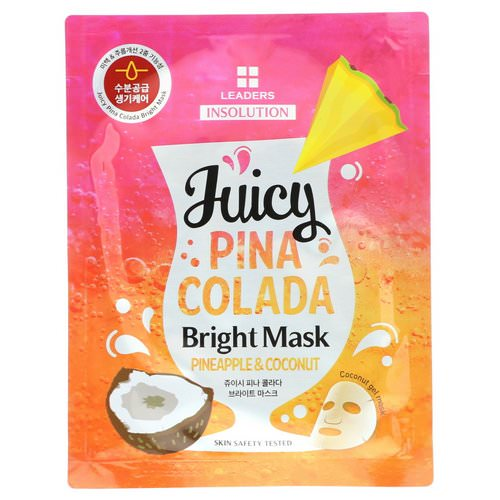 Leaders, Insolution, Juicy Pina Colada Bright Mask, Pineapple & Coconut, 1.01 fl oz (30 ml) Review