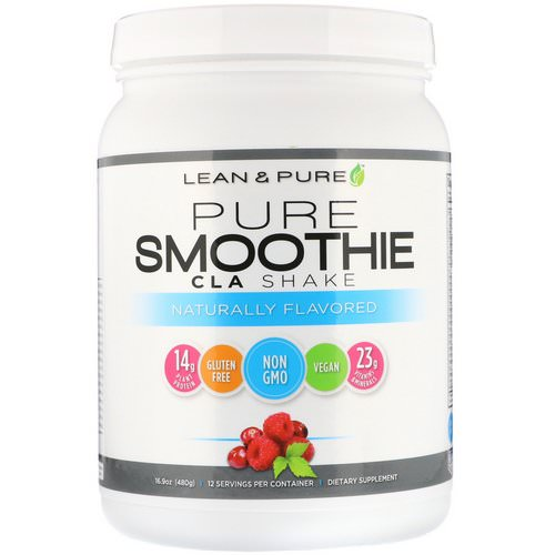 Lean & Pure, Pure Smoothie CLA Shake, Naturally Flavored, 16.9 oz (480 g) Review