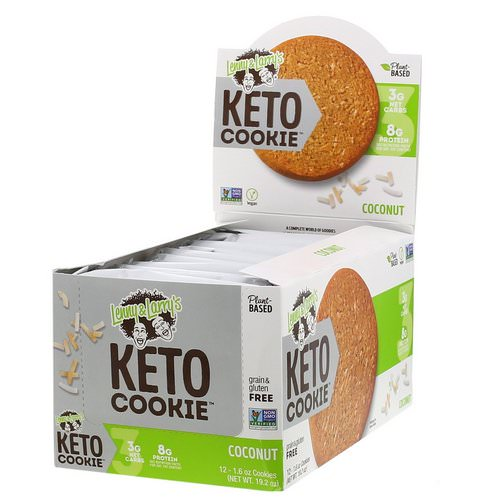Lenny & Larry's, Keto Cookies, Coconut, 12 Cookies, 1.6 oz (45 g) Each Review