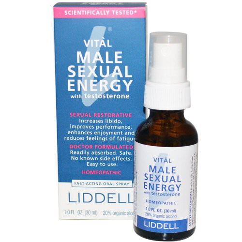 Liddell, Vital Male Sexual Energy with Testosterone, 1.0 fl oz (30 ml) Review