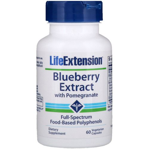 Life Extension, Blueberry Extract with Pomegranate, 60 Vegetarian Capsules Review