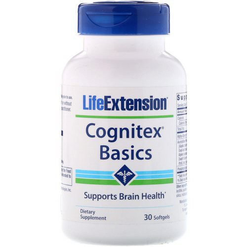 Life Extension, Cognitex Basics, 30 Softgels Review