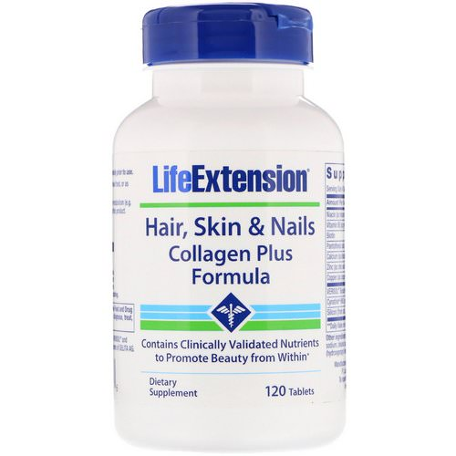 Life Extension, Hair, Skin & Nails, Collagen Plus Formula, 120 Tablets Review