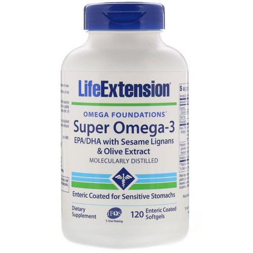 Life Extension, Omega Foundations, Super Omega-3, 120 Enteric Coated Softgels Review