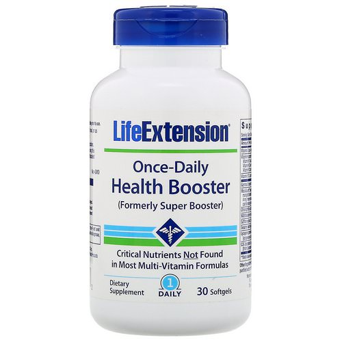 Life Extension, Once-Daily Health Booster, 30 Softgels Review