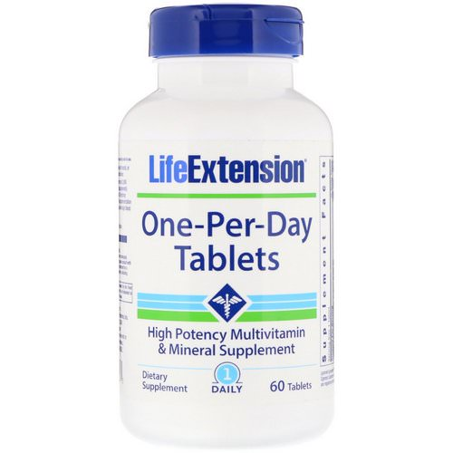 Life Extension, One-Per-Day Tablets, 60 Tablets Review