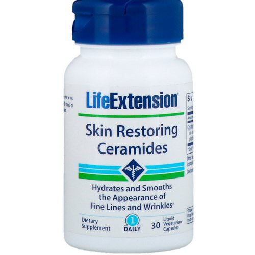 Life Extension, Skin Restoring Ceramides, 30 Liquid Vegetarian Capsules Review