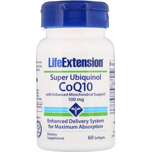 Life Extension, Super Ubiquinol CoQ10 with Enhanced Mitochondrial Support, 100 mg, 60 Softgels Review