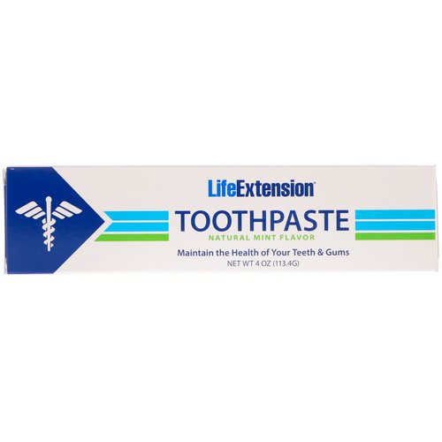 Life Extension, Toothpaste, Natural Mint Flavor, 4 oz (113.4 g) Review